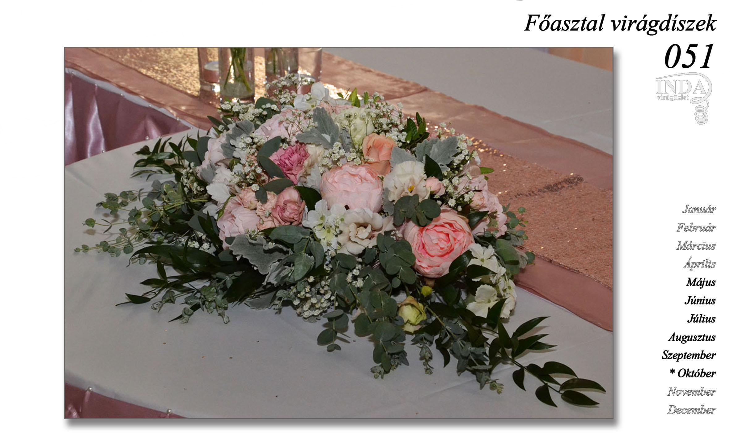 3ed3669603 Főasztal virágdíszek – INDA Virágüzlet