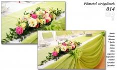 Főasztal virágdíszek