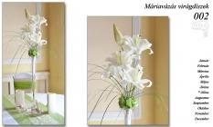 Máriavázás virágdíszek