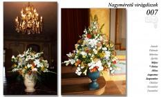Nagyméretű virágdíszek